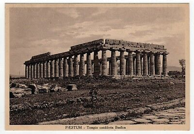 PAESTUM ITALY PC Postcard ITALIA Capaccio SALERNO Greek Ruins GREECE Empire