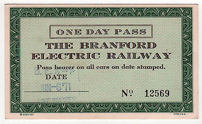 BRANFORD ELECTRIC RAILWAY Train Pass TICKET Connecticut TROLLEY Traction SHORE