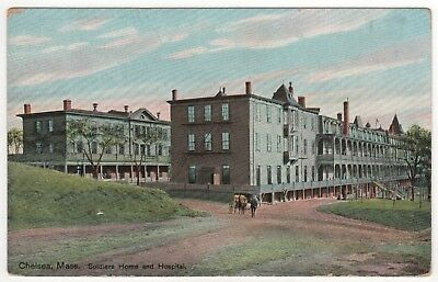 CHELSEA MASSACHUSETTS PC Postcard SOLDIERS HOME Hospital MASS MA Army MILITARY