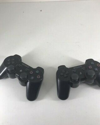 Lot 2 Manettes Sony Dualshock Sixaxis Hs Wireless Ps3 Playstation 3