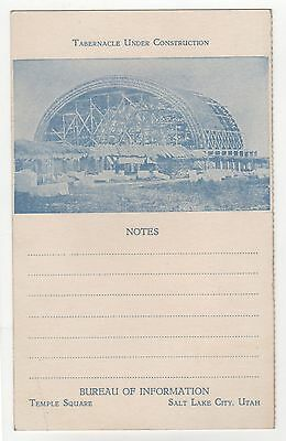 SALT LAKE CITY TABERNACLE Utah MORMON LDS Notes MORMONS Temple Square UT Church