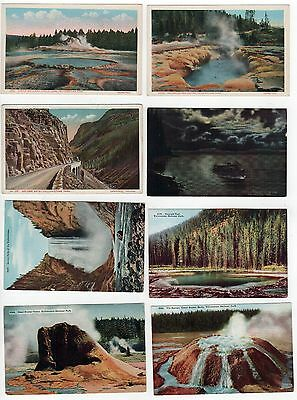 YELLOWSTONE NATIONAL PARK PC Postcard WYOMING NPS Geyser LAKE Pool PARKS
