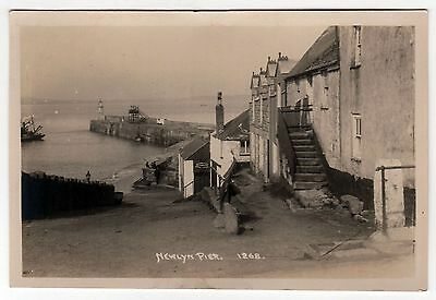 NEWLYN PIER Cornwall UNITED KINGDOM England RPPC Real Photo Postcard PENZANCE UK