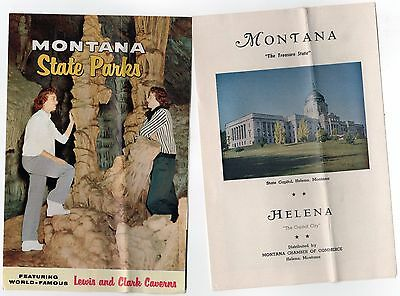 1950s MONTANA TRAVEL BROCHURE Lot HELENA State Parks MT Big Sky TREASURE STATE