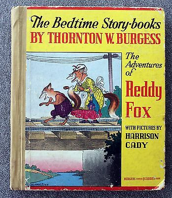 1941 THE ADVENTURES OF REDDY FOX Thornton Burgess HARRISON CADY Bedtime Story