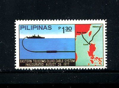 PHILIPPINES 1330 MNH Underwater Phone Cable, Okinawa-Luzon-Hong Kong