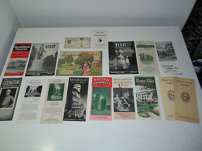 Lot 17 Vintage VIRGINIA Booklets Brochures MOUNT VERNON Staunton Fredericksburg