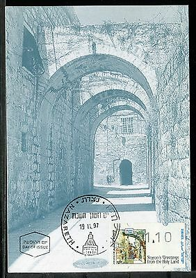 Israel Phila Maxi Card Christmas Nazareth-from the Holy Land 1997. x21376