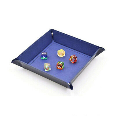 Collapsible Dice Tray PU Tabletop RPG Foldable Storage Box For DnD Board Gaming