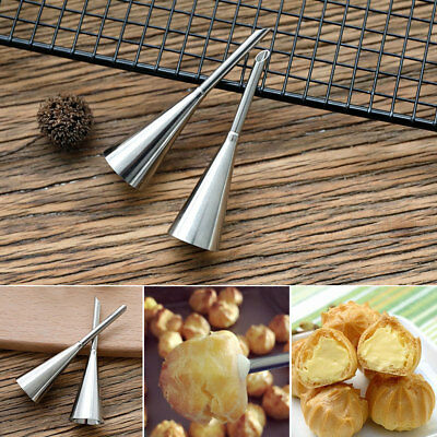 4 Stainless Icing Piping Nozzles Tips Cake Sugarcraft Pastry Decor Baking Tools