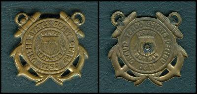 Vintage United States Coast Guard  Insignia, Brass