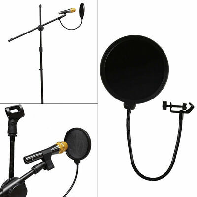 Black Double-Layer Recording Microphone Pop Filter Wind Screen Mask Shield B7M9J