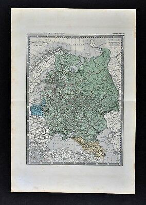 c 1860 Ansart Map - Russia - Poland Estonia Finland Latvia Moscow St. Petersburg