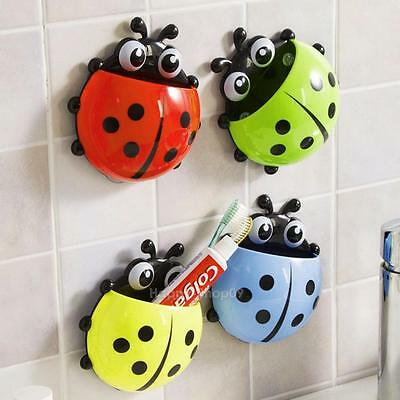 Toothbrush Holder Wall Mount Suction Cup Toothpaste Home Bathroom Storage Rack