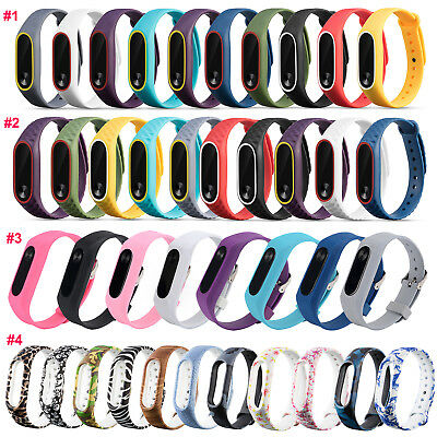 For Xiaomi Mi Band 2 Watch Adjustable Bangle Silicone Strap Wristband Bracelet