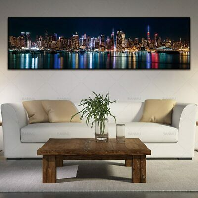 City Night Canvas Painting Wall Art Picture Artwork HD Print Poster Home Decor