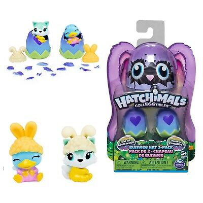 Hatchimals Colleggtibles Bunwee Season 5 4 Pack Set W/ Hats Easter Surprise Eggs