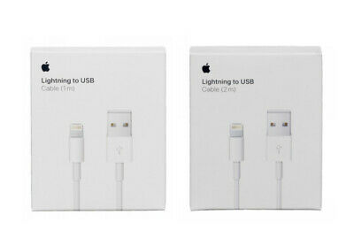OEM Lighting USB Charger Data Cables Apple iPhone 5 6 7 8 Plus Xs 1m/3ft 2m/6ft