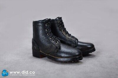 """DID WWII German Black Short Boots 1/6 Fit for 12"""" action figure"""