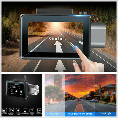 """3"""" Touch Screen Android 5.0 Car DVR 1080P HD Camera GPS Logger 3G Wifi Dual Lens"""