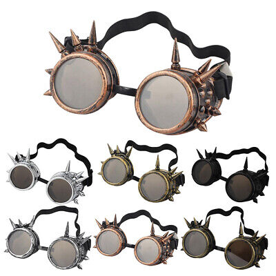 Spiked Cyber Goggles Steampunk Glasses Vintage Welding Vintage Gothic Victorian