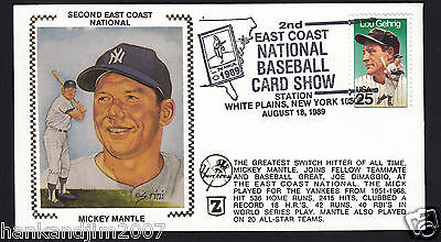 Mickey Mantle Silk Cachets Cover Postcards Litho 3000 Picclick