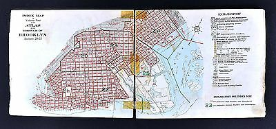 1929 Belcher Hyde Map - Brooklyn Borough Index Map Sections 20-25  New York City