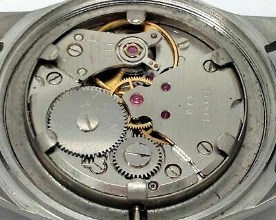 genuine hmt pilot hand winding men steel grey dial 17jwl vintage india watch run