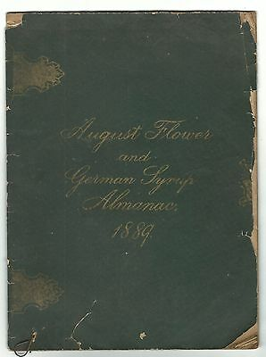 1889 August Flower & German Syrup Almanac GREEN Hammond Druggist West Chester PA