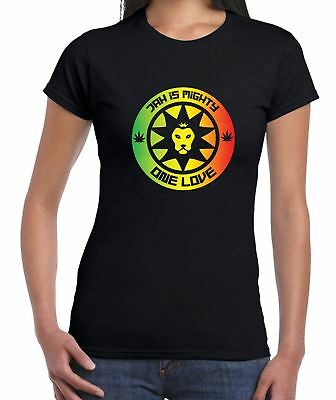 da68db1d Jah is Mighty Lion of Judah Reggae Women's T-shirt - Bob Marley Rasta  Festival