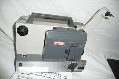 Cine film projector EUMIG MARK-502D super single 8 + LEAD & instructions