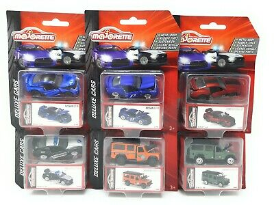 Majorette Model Car metal Deluxe Cars Set of 6 Ford Mustang Nissan GT Land Rover