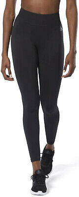 Reebok WOR Meet You There Seamless Womens Long Training Tights - Black