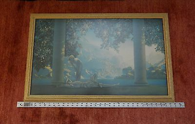 Large 1920's Framed Maxfield Parrish Daybreak Print The House of Arts NY 20 x 33