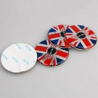 4 STICKERS LOGO MINI UK FLAG DRAPEAU 56mm caches moyeu jante / NEUF