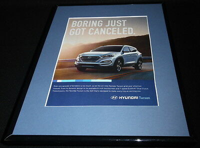 2015 Hyundai Tucson Framed 11x14 ORIGINAL Advertisement B