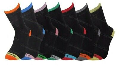 Mens Cotton Socks 7 Pairs Days Of The Week Novelty Fashion Multipack Adult 6-11