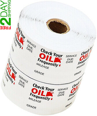 Oil Change Reminder Stickers Clear Decals Static Cling Sticker 1000 Stickers Set