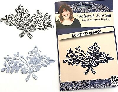 Tattered Lace Matrices Matrice de Coupe Papillon Branche Neuf Scrapbooking