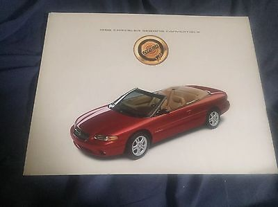 2001 Chrysler Sebring Convertible Original Sales Brochure Book Catalog