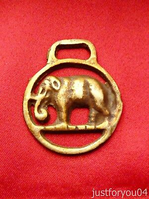 Vintage Solid Horse Brass Standing Elephant  Miniature Pony Size.