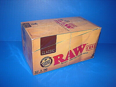 RAW Rolling Papers King Size Slim Classic Natural Unrefined 32 Packs * NEW *^