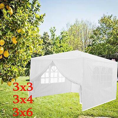 Gazebo Waterproof Marquee Wedding Party Outdoor Garden PE Tent 3x3/3x4/3x6m/2x2m