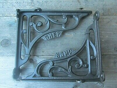 "7"" PAIR GNER Railway Antique Vintage Cast Iron Shelf Bracket Wall Free Post"