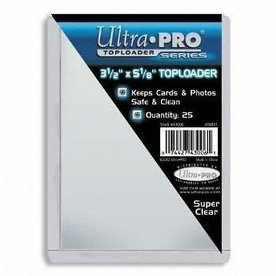 50 Ultra Pro 3 1/2 x 5 1/8 Toploaders Postcard Photo Holders Storage Protect new