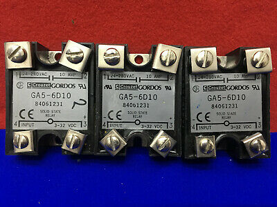 Qty 3 - Crouzet Gordos Ga5-6D10 Solid State Relays