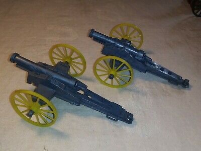 VINTAGE MPC 1960S Blue Howitzer Cannons x2 6