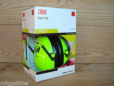 Peltor Hearing Protection for Children H510ak Neon Green now for Special Price