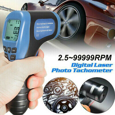 Digital Tachometer Non-Contact Laser Photo Gun RPM Tach Tester Meter Speed Gauge