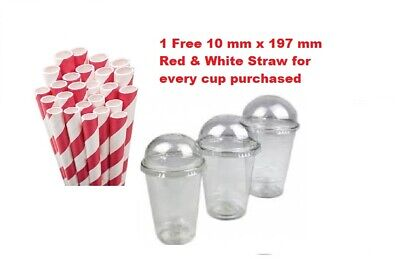 200 Milkshake & Smoothie Cups With Dome Lids 16 Oz